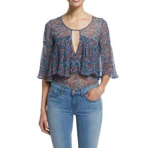 """Rebecca Taylor """"Lindsay"""" Silk blouse sz 10"""